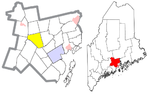 Waldo County Maine Incorporated Areas Knox Highlighted.png