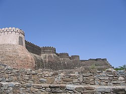 The walls of the fort of Kumbhalgarh extend over 38 km, claimed to be the second-longest continuous wall after the Great Wall of China.
