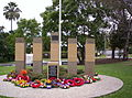 War memorial at The Gap, Queensland - ANZAC Day 2012.JPG