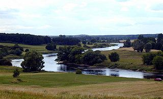Warta river in Poland