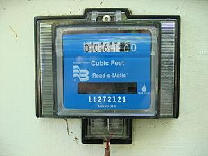water meter, U. S. residence