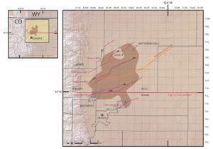 Wattenberg Gas Field - Location of the Wattenberg Gas Field, Colorado