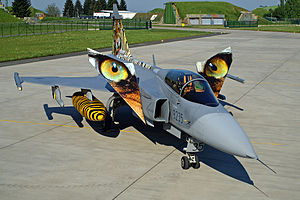 Czech Air Force - Gripen prepared for the Tiger Meet