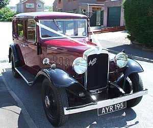The vintage car Austin Six