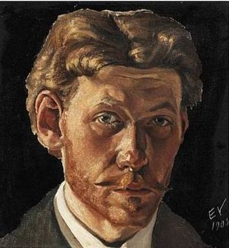 Edvard Weie - Self-portrait (1905)