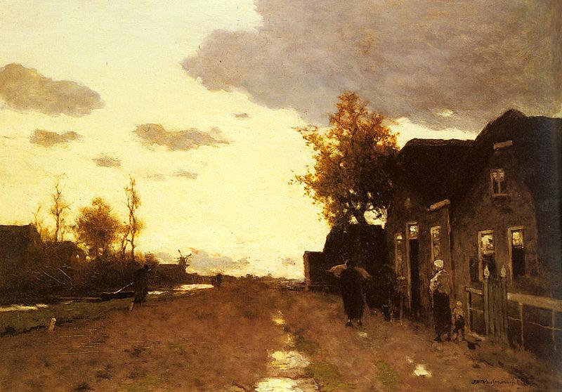 File:Weissenbruch Jan Hendrik Along The Canal.jpg