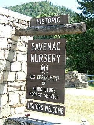 Mineral County, Montana - Image: Welcome Sign Historic Savenac Tree Nursery