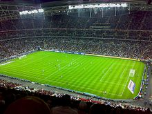 wembley stadium pitch during england friendly against germany in august 2007