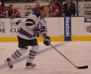 Wendel Clark played with the All-Star Legends ...