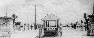Tonopah Air Force Base - Main gate at Tonopah AAF, 1944.