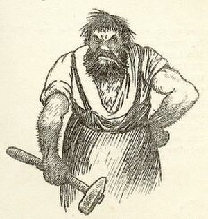 Metalsmith - Illustration by Theodor Kittelsen for Johan Herman Wessel's The Smith and the Baker