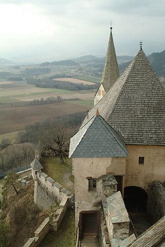 Hochosterwitz Castle - Image: West Viewfrom Hochosterwitz Castle