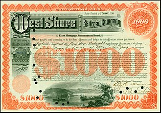 West Shore Railroad - Bond of the West Shore Railroad Company, issued 16. January 1903