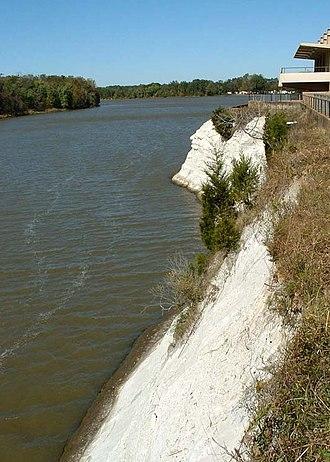Tombigbee River - Tombigbee River at White Bluff (Ecor Blanc) in Demopolis.