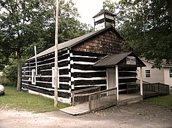 White Oak Log Church at Artie, West Virginia