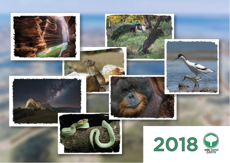 Wiki Loves Earth Wall Calendar 2018
