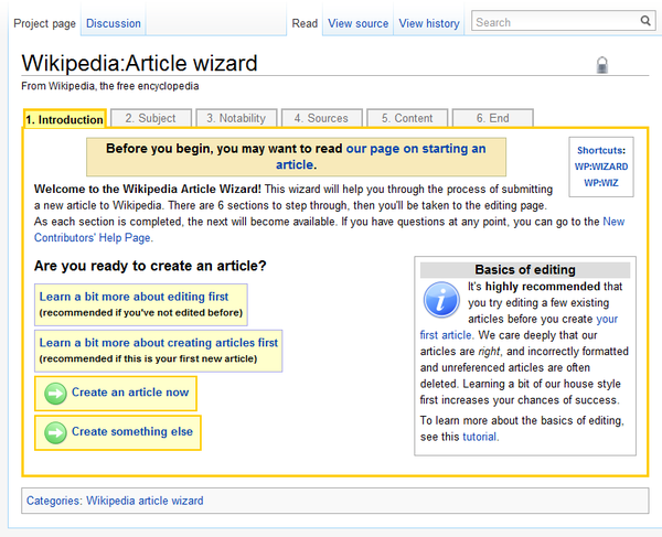 make your own wikipedia page for fun
