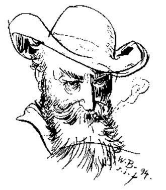 Wilhelm Busch - Self-portrait, 1894