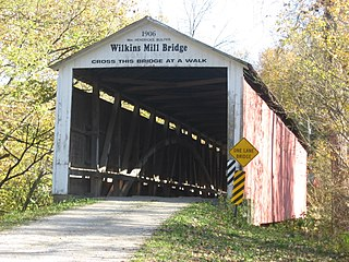 Wilkins Mill Covered Bridge place in Indiana listed on National Register of Historic Places