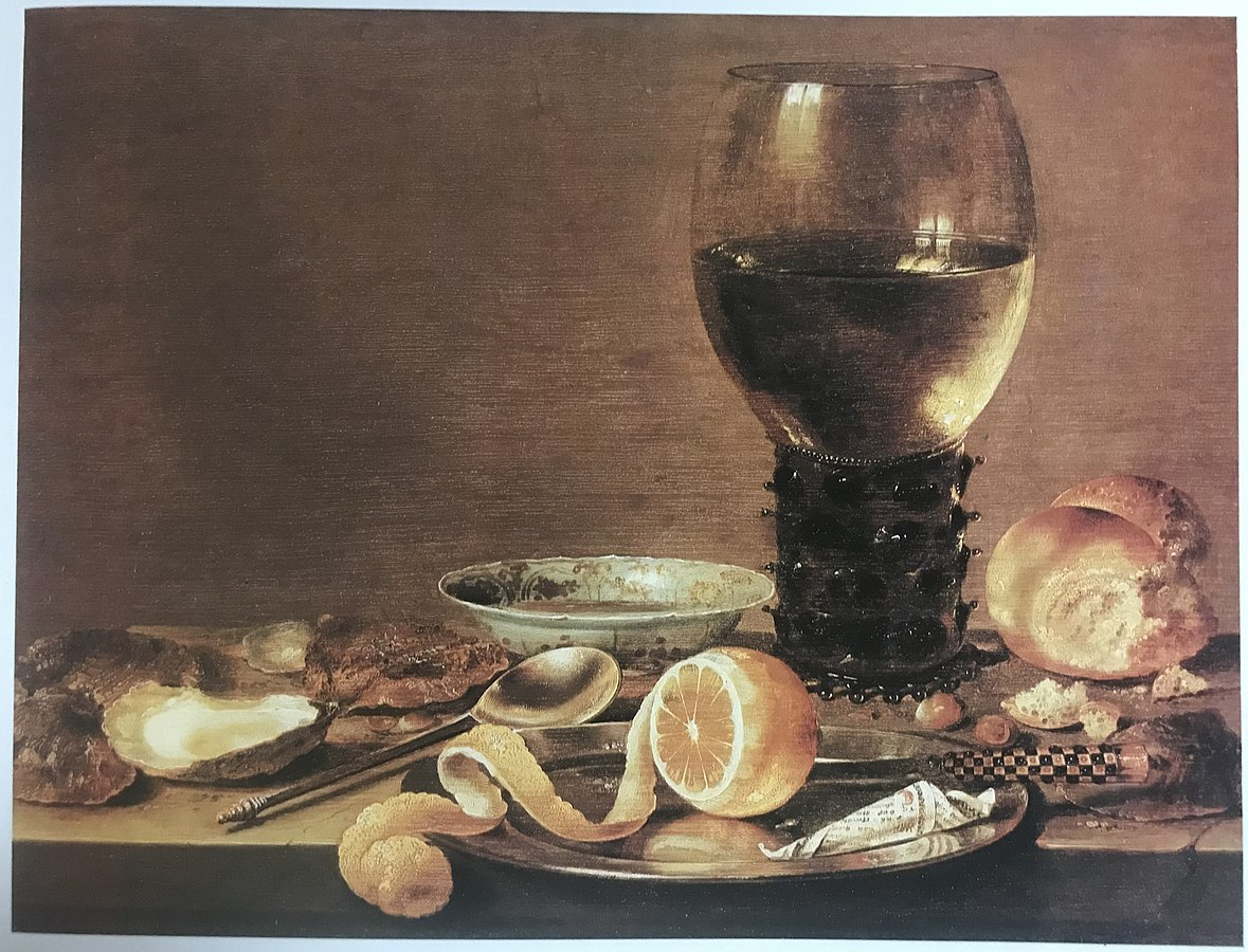 Still Life with Rummer, Oysters, Lemon and Pepper, Soup and Spoon, Knife and Nuts