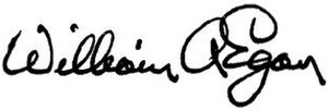 William A. Egan - Image: William Allen Egan signature
