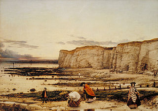 <i>Pegwell Bay, Kent – a Recollection of October 5th 1858</i> 1860 painting by William Dyce