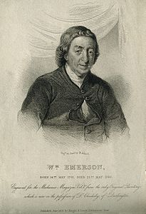 William Emerson. Stipple engraving by H. Adlard after Sikes. Wellcome V0001762.jpg