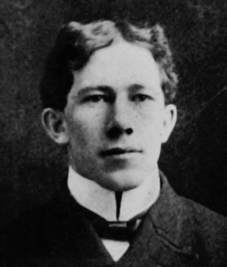 William Namack - Namack pictured in the 1901 Class Book, Cornell University