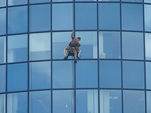 Window cleaner, M-Palác, Brno (2)