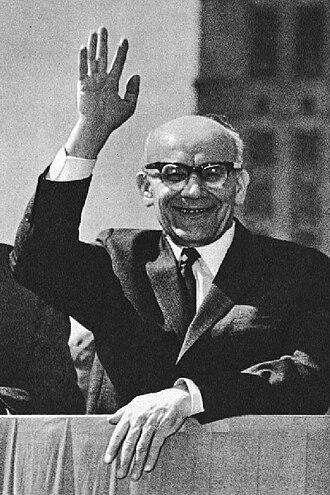 Jan Olszewski - As a journalist, Olszewski developed a working relationship with communist party First Secretary Władysław Gomułka in the mid-1950s.