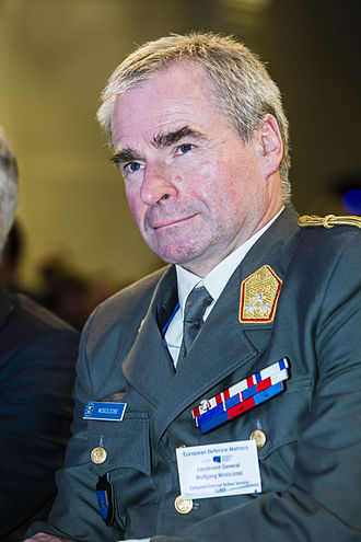 Director General of the European Union Military Staff - Image: Wolfgang Wosolsobe at the 2014 EDA European Defence Matters conference