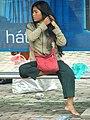 Woman - Bus Stop - Hanoi - Vietnam.JPG