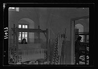 Women's Institute, Jerusalem. One of the weaving rooms, 1 loom (looking thro(ugh) door into next roo(m)) LOC matpc.19904.jpg