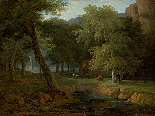 Woodland Scene with Nymphs and a Herm