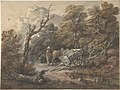 Woodland Scene with a Peasant, a Horse, and a Cart MET DP804236.jpg