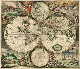 World Map, Amsterdam 1689