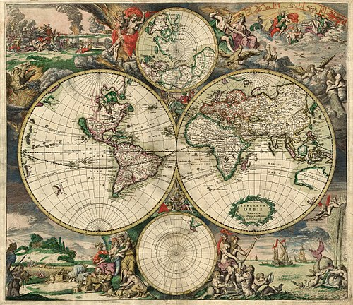 1689 world map