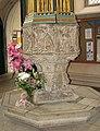 Wymondham Abbey - C15 baptismal font - geograph.org.uk - 1962651.jpg