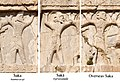 Xerxes I tomb The three types of Sakas, circa 470 BCE.jpg