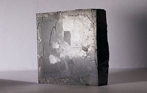 Yttrium barium copper oxide - YBCO superconductor in TTÜ.