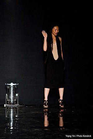 Yiqing Yin - Yiqing Yin at the end of her fashion show in July 2012