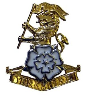 Yorkshire Regiment - Image: Yorkshire Regiment Cap Badge 289px