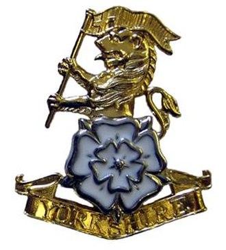 Yorkshire Regiment - Image: Yorkshire Regiment Cap Badge 289px