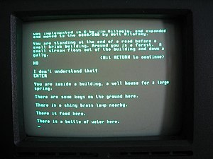 Colossal Cave Adventure - ADVENT running on an Osborne 1 Computer circa 1982
