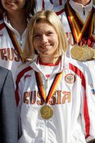 Yuliya Alipova - Image: Yuliya Alipova Medvedev with sportpeoples 2 (cropped)