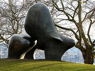 <i>Sheep Piece</i> 1971–72 sculpture series by Henry Moore
