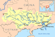Xi River Map Xi River   Wikipedia Xi River Map