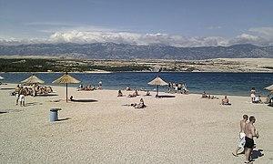 Zrće - Image: Zrce beach