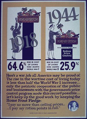 Price controls - WWII poster about US price controls