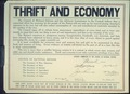 """Thrift and Economy..."", ca. 1917 - ca. 1919.tif"